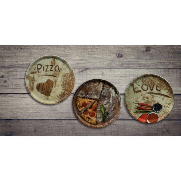 1 Stück Saturnia 04Z32019 Napoli Flour Pizzateller Dekor Pizza 31 cm